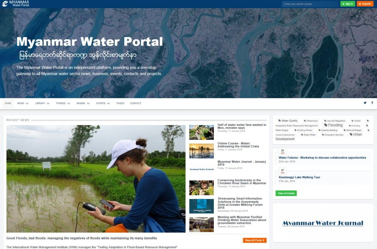 Myanmar Water Portal - Gateway to the Myanmar water sector.