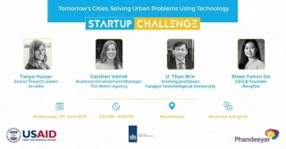 Tech for Cities - discussing the water challenges in Yangon