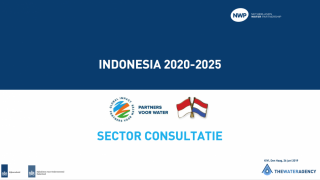 Indonesia Water Sector Consultation in the Hague